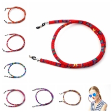 18pcs 6mm Round Retro Eyeglass sunglasses  cotton neck string cord retainer strap eyewear lanyard holder wholesale