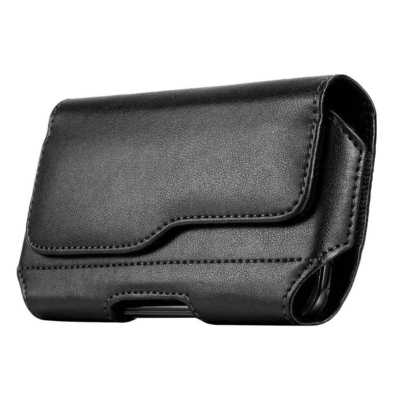 Horizontal Leather Belt Case Holster Pouch Sleeve Phone Holder For Men Travel Outdoor