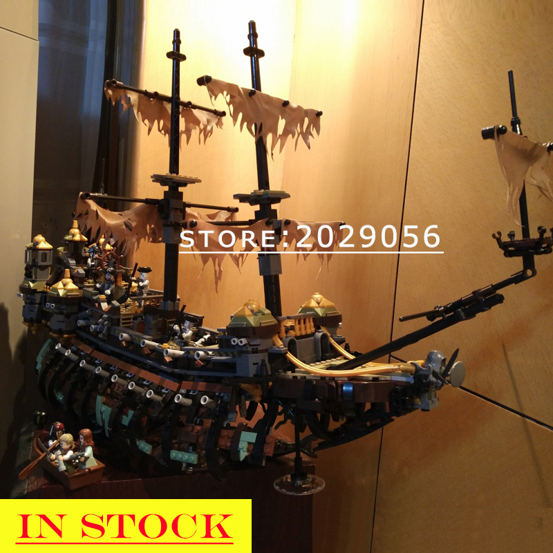 16042 In Stock The Pirate Captain Series Silent Mary Ship Boat Building Blocks Bricks Toys Compatible With 71042 22001 16016