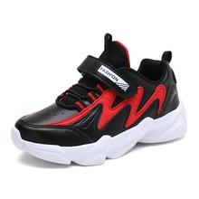 SKHEK 2019 Winter Kids Sports Shoes Children Casual Boys Patchwork Sneaker Fashion Autumn Non-slip Girls Student 662