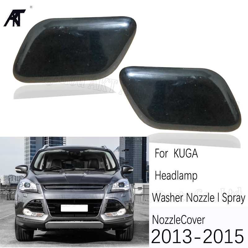 Nozzle cover For Ford Escape Kuga 2013 2014 2015 2016 Front headLight head lamp Washer Nozzle Spray Jet Cover House Cap Housing image