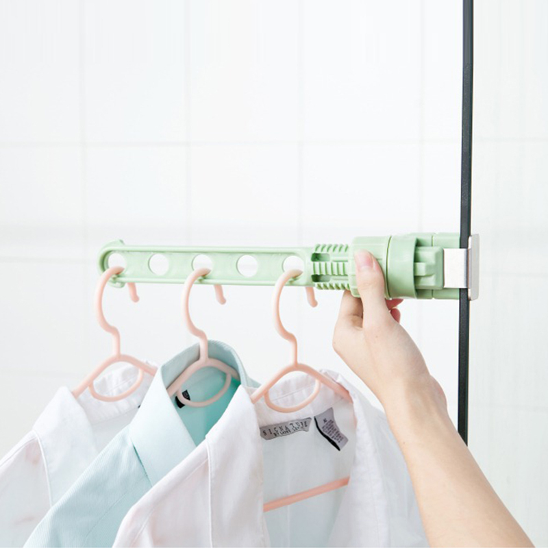 New Arrival Indoor Window Door 5-Holes Snap-on Clothes Hanger Holes Hanging Rack Multi-functional Window Frame Drying Rack