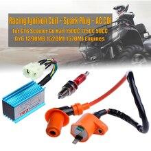 цена на Racing Performance CDI+ Ignition Coil + Spark Plug Fit gy6 scooter go kart 150cc 125cc 50cc gy6 139qmb 152qmi 157qmj Engines