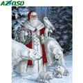 AZQSD Рождество 5D алмазная картина Санта-Клаус Стразы картины алмазные художественные наборы полная дрель вышивка крестом рукоделие подарок