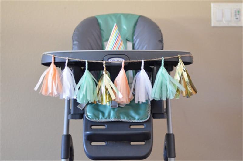 10cm Hanging Mini DIY Tissue Paper Tassel Garlands Birthday Wedding Baby Shower Party Decorations