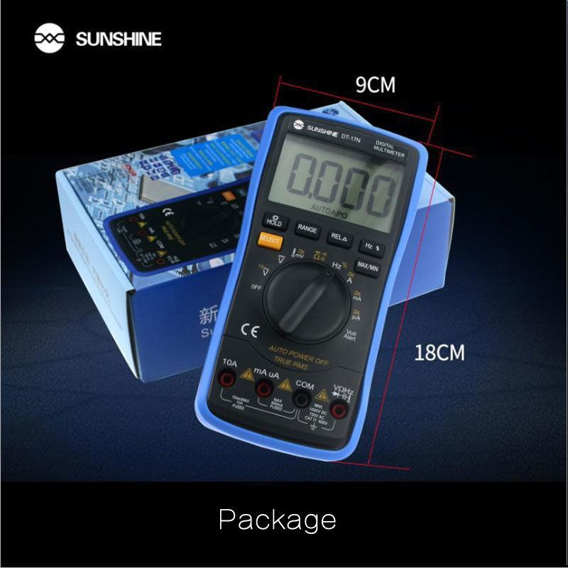 Tools : DT-17N high precision lcd display Digital Multimeter 35 6 automatic instrument AC DC voltage current resistance measure