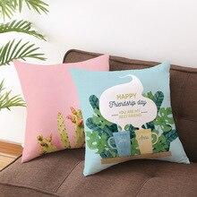 Pillow Decorative-Pillowcase Cushion-Cover Baby Parrot Bedroom Tropical-Plant 45--45cm