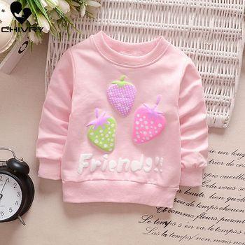 Children Hoodies Sweatshirts Boys Girls Kids Cartoon Rabbit Strawberry Cotton Pullover Tops Baby Girls Spring Autumn Clothes