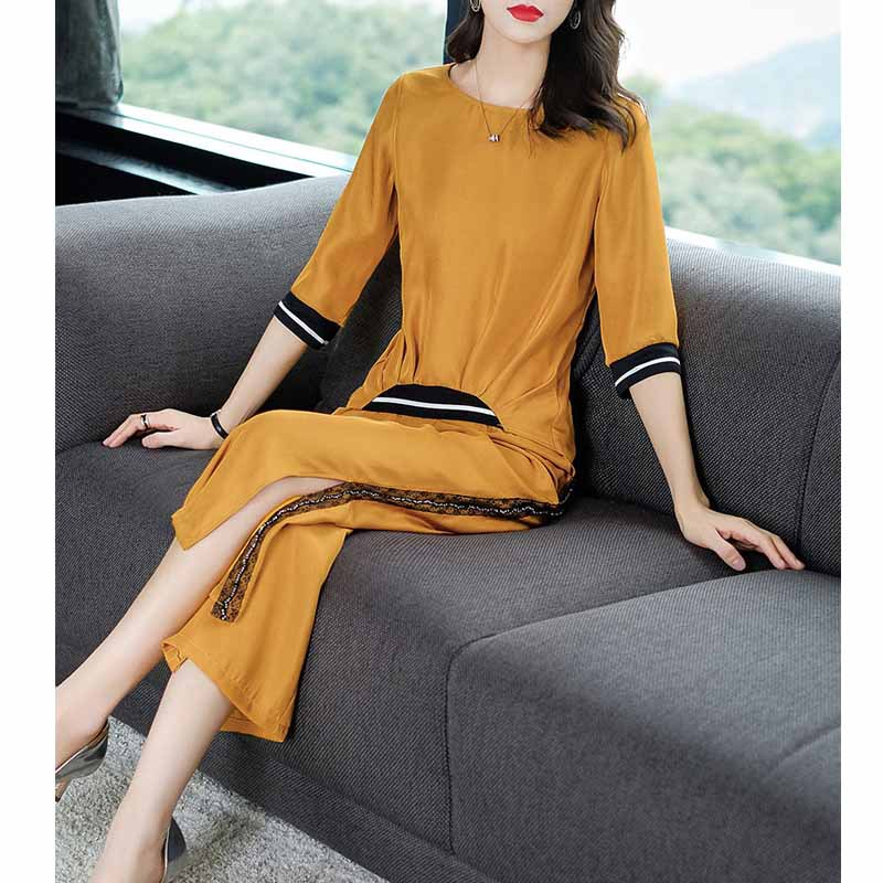 Two-Piece Set France Non-mainstream Western Style Set 2019 New Style Spring And Summer Versatile Fashion Casual Loose Pants WOME