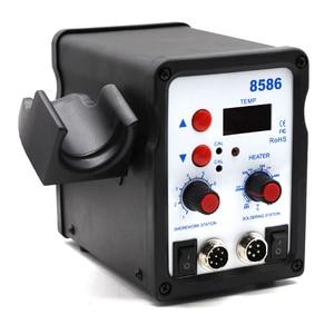 Image 3 - 8586 2 ב 1 ESD אוויר חם אקדח הלחמה תחנת ריתוך הלחמה ברזל עבור IC SMD הסרת הלחמה vs 858 8858 858D 8858D 8032 8018lcd