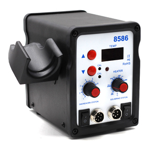 Image 3 - 8586 2 In 1 ESD Hot Air Gun Soldering Station Welding Solder Iron For IC SMD Desoldering vs 858 8858 858D 8858D 8032 8018lcd