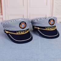 1 Pcs Military Nautical Hat White Yacht Captain Hat Navy Cap Sailor Cap Costume For Adults Party Fancy Dress Cosplsy Hat