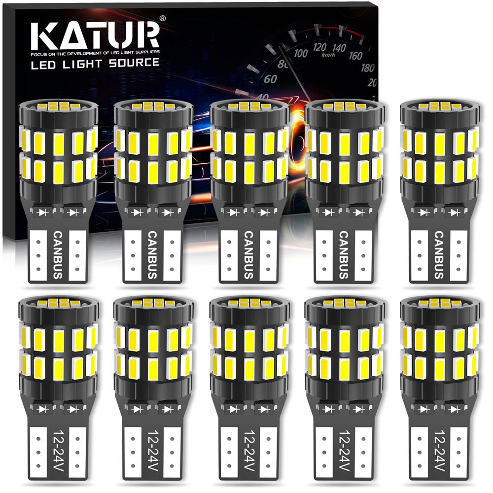 10x Canbus T10 W5W Bulb No Error LED Car Parking Clearance Light For Skoda Octavia 2 A5 A7 Yeti Fabia Rapid Superb Interior Bulb