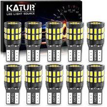 10x LED T10 W5W Canbus de estacionamiento luces Led de coche para Audi A2 A4 8L 8P B5 B6 A6 4B 4F A8 D2 TT C5 C6 C7 S2 S4 Q3 Q5 Q7