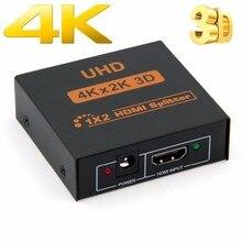 4k hdmi divisor completo hd 1080p vídeo hdmi switch switcher 1x2 1x4 divisor 1 em 2 para o amplificador de exigência para hdtv dvd