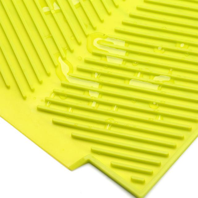 New Drain Mat Kitchen Silicone Dish Drainer Tray Large Sink Drying Worktop Organizer Drying Mats for Dishes Tableware 4