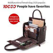 Cobbler Legend 2020 Women Cosmetic Bag Case Functional Handbag Big Capacity Multifunctional Crossbody Bag Organizer  Leater Bag