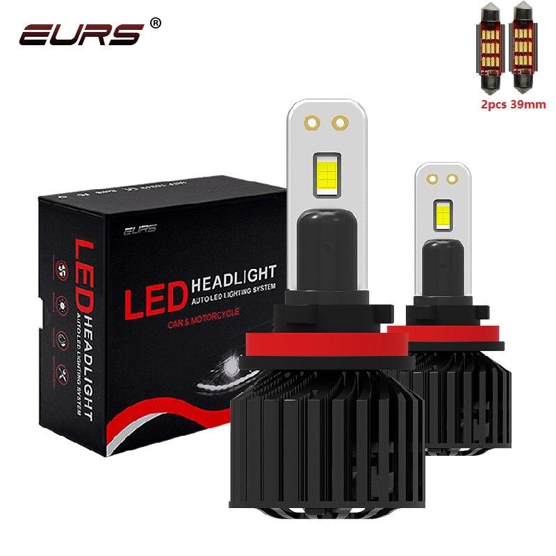 EURS 90W Hi/Lo Beam H4 H7 LED Car Headlight Bulb H11 H1 HB4 Auto LED headlight 9012 Led Canbans C321 Fog Light 18000LM 12V 24V