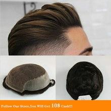 Мужские кружева bymc с ПУ мужские волосы для мужчин система