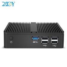 מיני מחשב שולחני Intel Pentium N3510 Quad Core Windows 10 לינוקס DDR3L mSATA SSD HDMI VGA 5 * USB wiFi Gigabit LAN HTPC Fanless