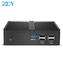 Mini ordinateur de bureau Intel Pentium N3510 Quad Core Windows 10 Linux DDR3L mSATA SSD HDMI VGA 5 * USB WiFi Gigabit LAN HTPC sans ventilateur