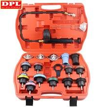 18 Pcs Radiator Pressure Tester Tool Kit Cooling System Testing Tool Vacuum Vehicle Universal For Audi BMW Ford Volvo
