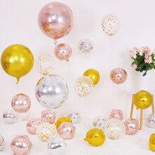 Трансграничной Лидер продаж Свадебные украшения 17-дюймовый 4D воздушные шары на день рождения воздушный шар из фольги для отдыха и вечеринок аксессуары Фольга балло