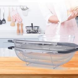 Sitko kuchenne siatki ze stali nierdzewnej chowany mikro perforowany durszlak mycie płukanie do warzyw zmywarka owoce Półki i uchwyty    -