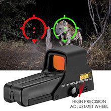 Mira telescópica holográfica de alta definición, visor de punto rojo, instrucciones de alcance, a prueba de golpes, punto rojo y verde interno, 551/552