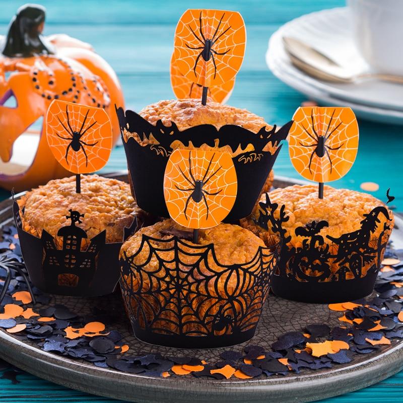 Black GOTHIC Cupcake WRAPS Cake Decorating Party /& Celebration Wrappers