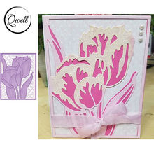 Qwell цветок металла резки штампы для скрапбукинга и карты делая