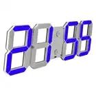 3D di Grandi Dimensioni di Telecomando Led Digital Orologio Appeso Electirc Orologio di Allarme Timer Conto Alla Rovescia Termometro Blu Soggiorno Moderna Decor Orologio