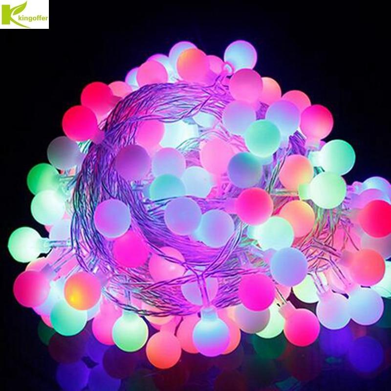 Kingoffer 30M 300 LED Ball Fairy String Light Lamp Garlands For Christmas Tree Holiday Wedding Garden