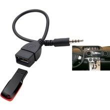 Аудио кабель для преобразования провода автомобиля AUX кабель Женский адаптер конвертера OTG кабель 3,5 мм мужской аудио AUX разъем для USB 2,0 типа