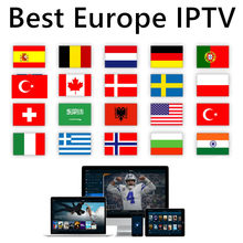 Iptv box M3u playlist android tv box europe grec ex yu allemand néerlandais smart tv box seul support m3u smart tv pas de chaînes incluses(China)