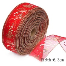 200CM Bow Decor Silk Ribbons Star Printed Organza Ribbon for Wedding Christmas Party Decoration DIY Handcraft Cake Gift Wrapping
