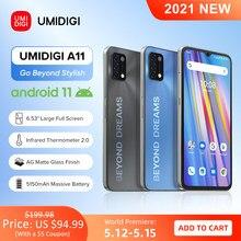 [Estreia mundial] umidigi a11 versão global android 11 smartphone helio g25 64gb 128gb 6.53