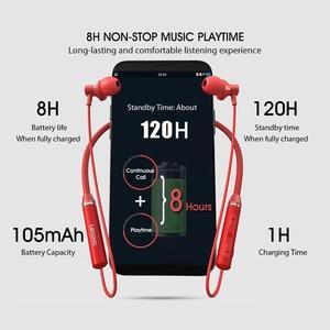 Image 3 - Auriculares inalámbricos Bluetooth Lenovo HE05 BT5.0 auriculares deportivos para correr IPX5 auriculares deportivos impermeables auriculares magnéticos con micrófono
