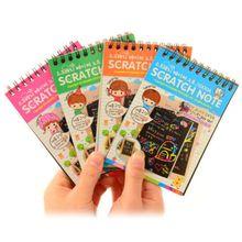 Сделай Сам скретч арт-блокнот Рисование альбом для Рисования Дети скретч арт-блокнот дети творческое воображение развивающая игрушка