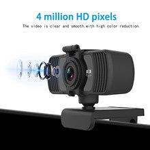 Webcam 1080p completo hd câmera web com microfone usb plug web cam 2k computador desktop para transmissão ao vivo vídeo chamando trabalho