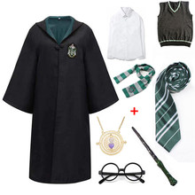 Halloween Cosplay Costume for Women Robe Cape Suit Scarf Glasses School Uniform Cosplay Clothes Accessories Gift Kids Cloak