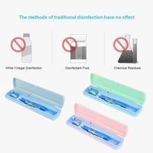 Draagbare Tandenborstel Sterilisator Sterilisatie Holder Cleaner Doos Dental Care Tandenborstel Schoon Antibacteriële UV Desinfectie Hulpmiddel