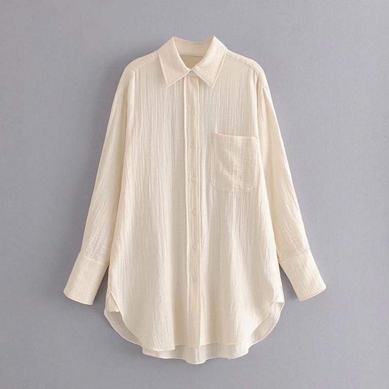 Women Wide Long Shirt Summer 2020 New Fashion Plus Size Blouse Top Female Casual Loose Shirts