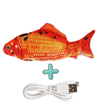 Moving Fish Cat Toy Electronic Flopping Cat Kicker Fish Toy Catnip Fish Toys for Cats Pet Supplies Funny Chew Toy for Indoor Cat 13
