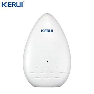 Image 1 - KERUI WD51 120dB czujnik alarmowy wycieku wody elektroniczny wykrywacz nieszczelności dla domu Wifi Alarm Gsm