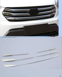 Image 1 - High quality stainless steel grille trim 5 pieces 2015 2016 2017 FOR Hyundai Creta IX25