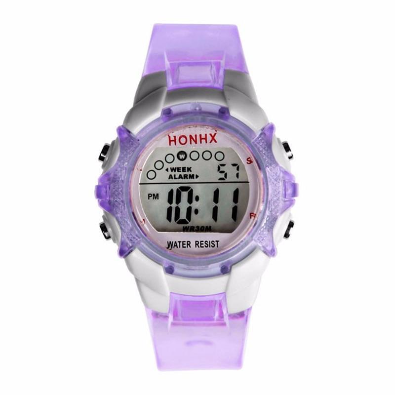 Waterproof Children Girls Digital LED Quartz Alarm Date Sports Wrist Watch Relogio Reloj New Arrival Dropshipping Hot Sales Fi