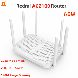 Image 1 - Original Xiaomi Redmi AC2100 Router Gigabit 2.4G 5.0GHz Dual Band 2033Mbps Wireless Router Wifi Repeater 6 High Gain Antennas