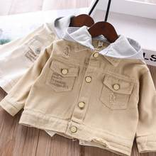 2020 new style girls hooded coat spring cotton fashion full sleeve girls jacket 2-7t HM860(China)
