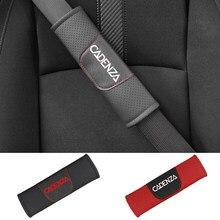Para kia cadenza 2 pçs couro do plutônio moda carro cinto de segurança capa do carro cinto de ombro almofadas